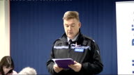 police press conference Superintendent Ian John reading statement from April Jones's parents to press conference SOT