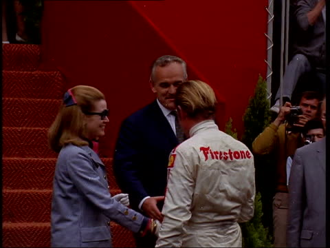 April Prince Rainier III died in 2005 PM Prince Rainier III of Monaco with his advisers / Rainier and his wife Princess Grace meeting Formula One...