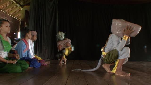 MS PAN Apsara dancers performing monkey dance / Phnom Penh, Cambodia