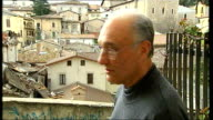 L'Aquila earthquake aftermath Pasqualino Fantozzi interview SOT Translated