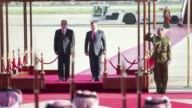 Arab heads of state were arriving at Amman airport on Tuesday to participate in an Arab League meeting in Jordan on Wednesday