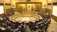 Arab League foreign ministers meeting is held in Cairo and members of Arab League attend the meeting in Egypt on 9 March 2015