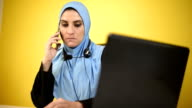 Arab Women Working from home.