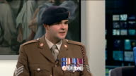 Arabella Dawson opens 'Before the Dawn' exhibition depicting the war in Afghanistan Sgt Rupert Frere interview SOT she manages to get a lot of...
