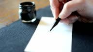 Arabic calligraphy: writing the letter Raa