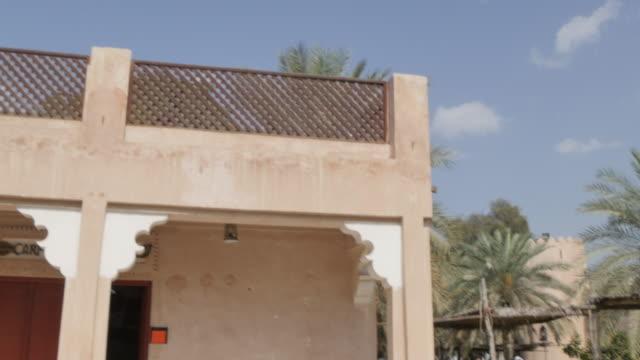 Arabic Tea Pot and museums, Emirates Heritage Village, Abu Dhabi, United Arab Emirates, Middle East, Asia