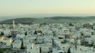 Arabic vilage in Israel. Aerial panoramic view