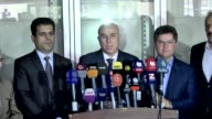 Arbil governor Nevzad Hadi speaks to the press following hundreds hospitalized after Iraq refugee camp hit by food poisoning on June 13 2017 at...