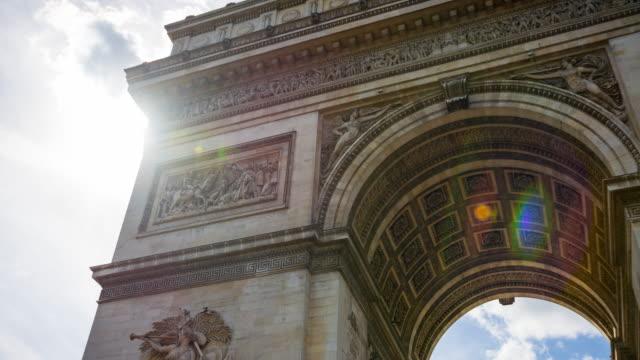 Arc de Triomphe at the end of Avenue des Champs-Elysees