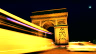 Arc de Triomphe Time Lapse in Paris