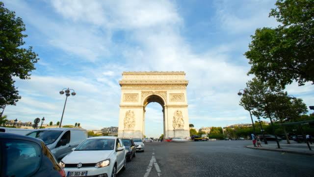 Arc de Triumph, Paris France  time lapse