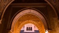 Arch in Alhambra of Granada