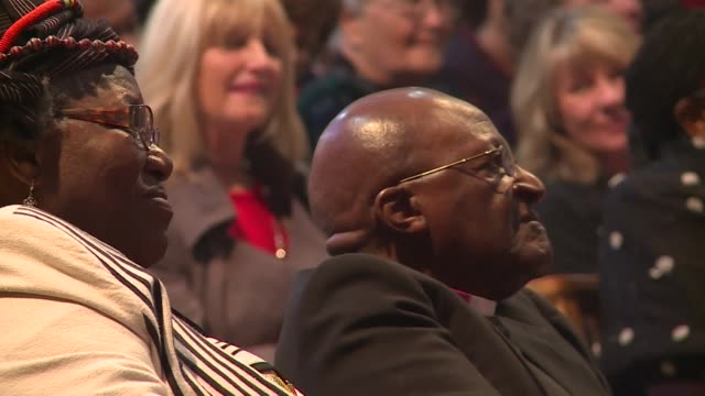Archbishop Desmond Tutu and his wife Leah renew their wedding vows after 60 years of marriage