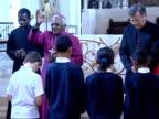 Archbishop Desmond Tutu opens Riverside Unit at Lewisham Hospital service / hospital tour / speech ENGLAND London Lewisham THROUGHOUT *** Archbishop...