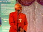 Archbishop Desmond Tutu opens Riverside Unit at Lewisham Hospital service / hospital tour / speech Archbishop Desmond Tutu speech SOT