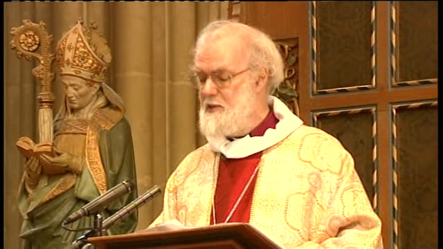 Archbishop of Canterbury Christmas Day sermon Rowan Williams Christmas Day sermon SOT As the Prince and his fiancee get ready for their new step into...