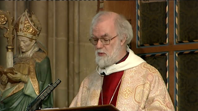 Archbishop of Canterbury Christmas Day sermon Dr Rowan Williams sermon SOT 'But all this shouldn't make us completely forget entirely the underlying...