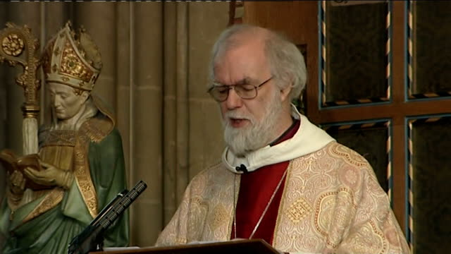 Archbishop of Canterbury Christmas Day sermon Dr Rowan Williams sermon SOT 'Finding words to respond to the Word made flesh is and has always been...