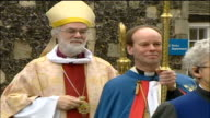Archbishop of Canterbury Christmas message ENGLAND Canterbury Canterbury Cathedral EXT Archbishop of Canterbury Dr Rowan Williams carrying staff...