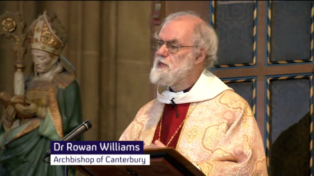 Archbishop of Canterbury reflects on issue of women bishops in Christmas sermon ENGLAND Kent Canterbury Cathedral INT Dr Rowan Williams sermon SOT In...