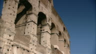 Arches remain in the ruins of Rome's ancient Colosseum.