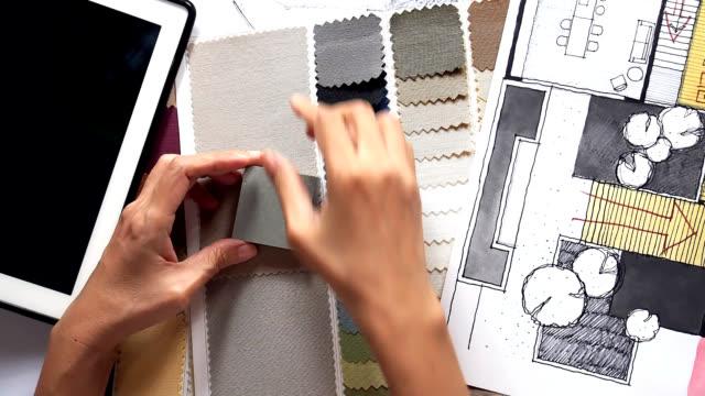 Architect interior designer working stock footage video - As interiorista ...