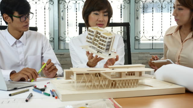 Architect team discussion on Architectural model
