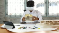 Architect Using Virtual Reality for his working