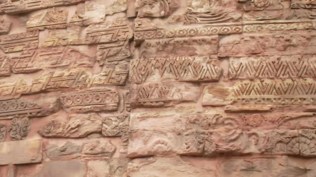 MS PAN Architectural detail of Dhamek Stupa / Sarnath, Uttar Pradesh, India