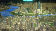 MS Architectural model of city of Shanghai in year 2020 on display at Shanghai Urban Planning Museum, Shanghai, China