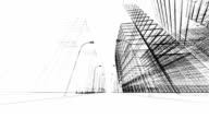 3 D abstrato arquitectura