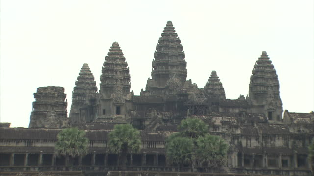 Architecture and sculpture of Angkor Wat temple complex Cambodia
