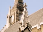 Houses of Parliament require restoration work ENGLAND London Westminster EXT Houses of Parliament with River Thames in foreground Close shots of...