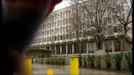 US Embassy in London to move from Grosvenor Square Entrance to Embassy / Security bollards on road leading to Embassy / More GVs US Embassy building...