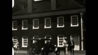 Archival home movie footage of Independence Hall in Philly in the late 1930's