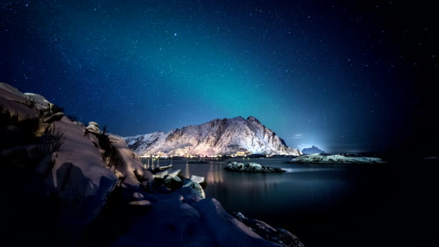 TIME LAPSE: Arctic Fjord at Night