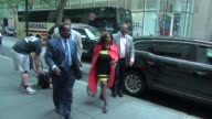 Aretha Franklin arrives at the NBC Studios in Rockefeller Center in Celebrity Sightings in New York