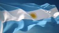 4K Argentina Flag - Loopable