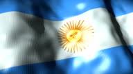 Argentina Flag waving, looping