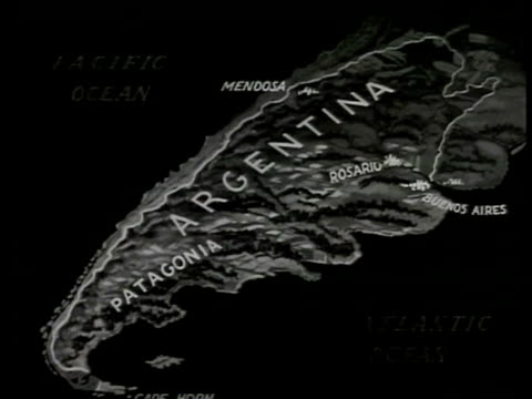 MAP 'Argentina' peninsula 'Patagonia Mendosa Buenos Aires'