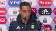Argentine football players Ramiro Funes Mori and Lucas Alario speak about having Messi back in their midst two days after Argentina defeated Uruguay...