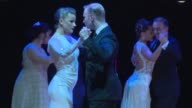Argentine tango dancers Clarisa Aragon and Jonathan Saavedra become the world champions of Salon Tango night in Buenos Aires