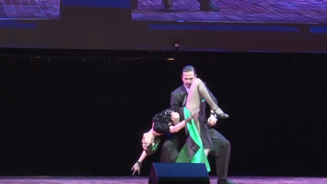 Argentine tango dancers Ezequiel Jesus Lopez and Camila Alegre become the world champions of Stage Tango in Buenos Aires a more acrobatic and...