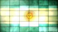 Argentinian Flag - Grid Panel Loop (Full HD)