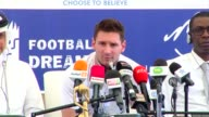 Argentinian football star Lionel Messi visits Senegal for an anti malaria campaign to distribute mosquito nets in a bid to reduce outbreaks of deadly...