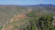 Arial View of Majorca plains near by Santuario de la Consolación - S'Alqueria Blanca - Santanyí / Balearic Islands, Spain
