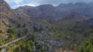 Arial View of mountain range near by Sa Calobra - Serra de Tramuntana / Majorca - Spain