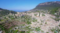 Arial View of Valldemosa on Balearic Island of Majorca by Serra de Tramuntana