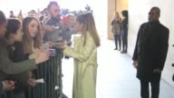 Ariana Grande meets fans at BBC Radio One at Celebrity Sightings in London on March 30 2016 in London England