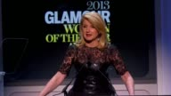 SPEECH Arianna Huffington introduces Sandy Hook moms on stage and 1 mom speaks at Glamour Magazine's 23rd Annual Women Of The Year Awards Event at...